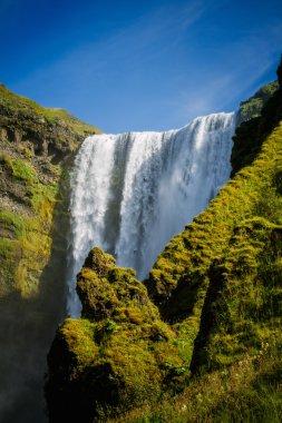 """Картина, постер, плакат, фотообои """"мощный водопад скогафосс в исландии постеры"""", артикул 67600793"""