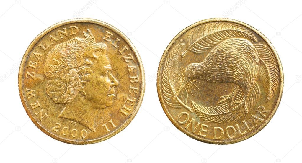 2000 Neuseeland 1 Dollar Münze Redaktionelles Stockfoto Smuayc
