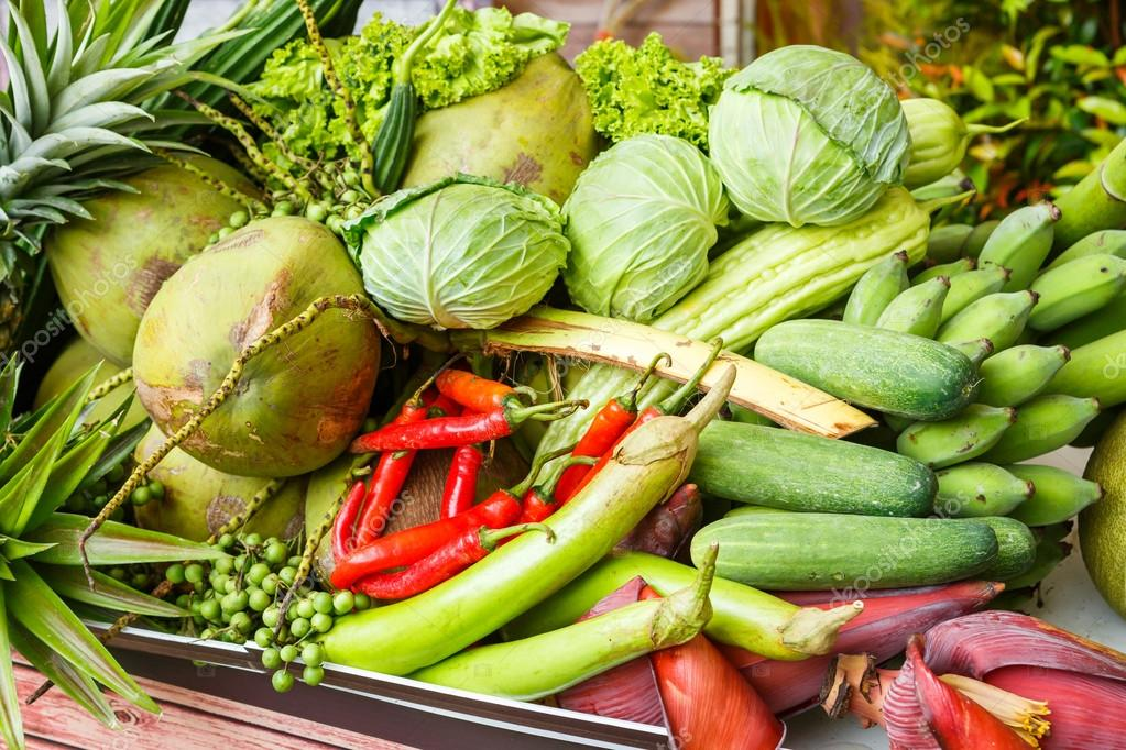 Thai vegetables and fruits