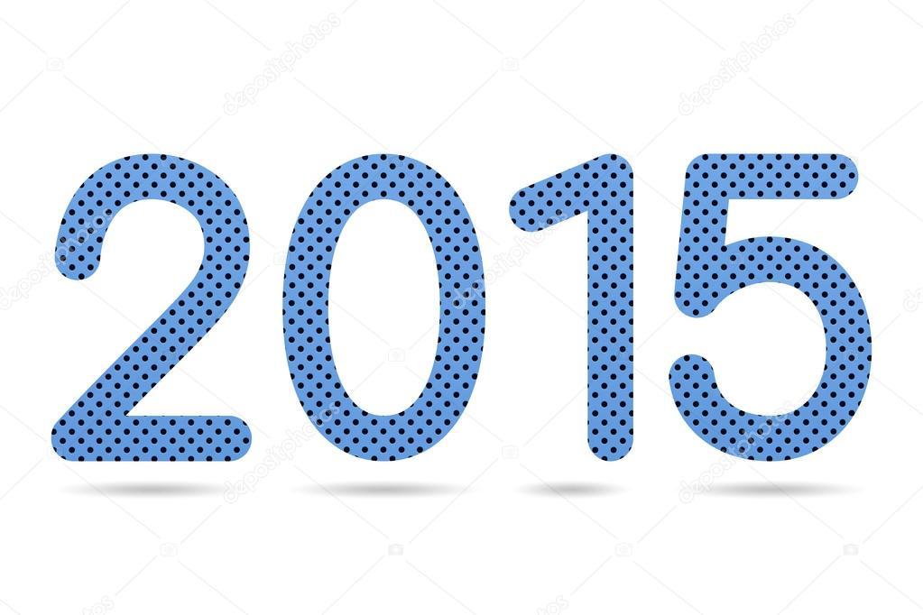 2015 numérica de color azul perforado de textura de hoja de metal ...