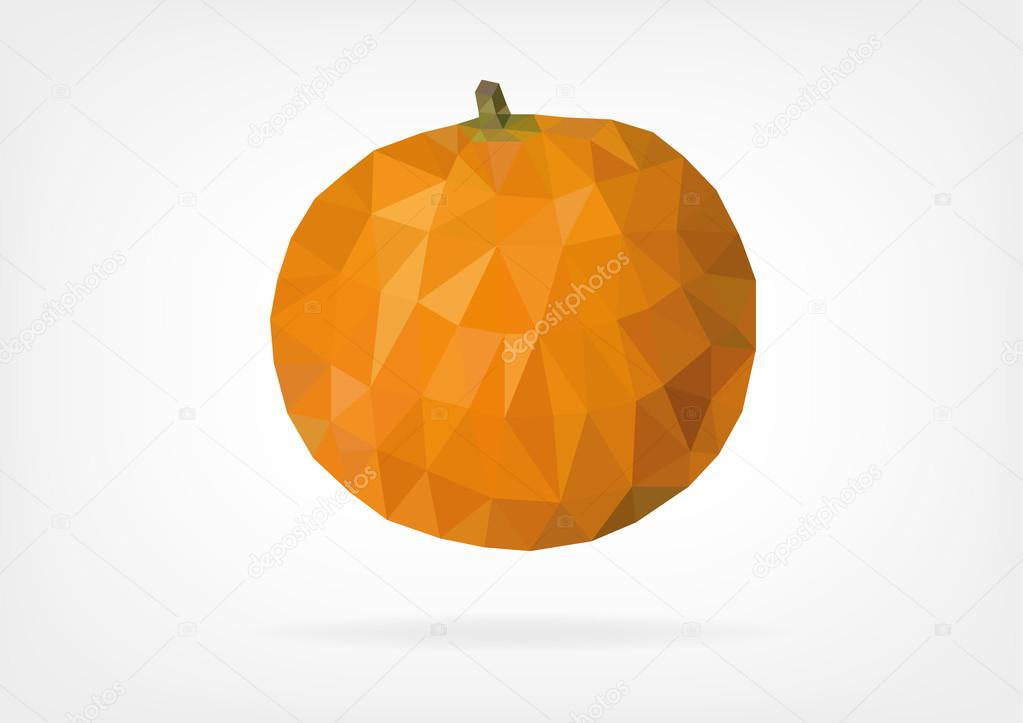 Low Poly Mandarin Orange