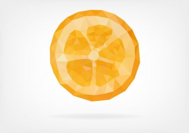 Low Poly Kumquat fruit
