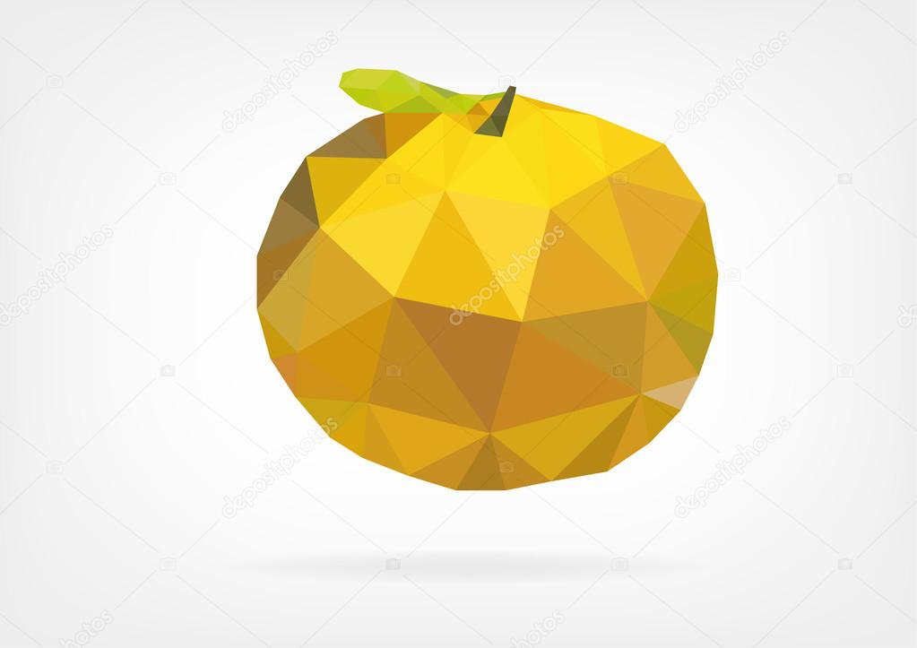Low Poly Yuzu (japanese lemon)