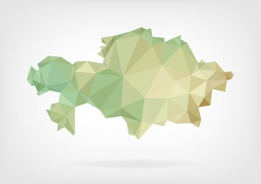 Low Poly map of Kazakhstan