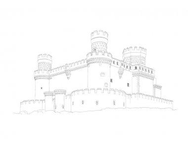 Castle of Manzanares el Real near to Madrid, Spain