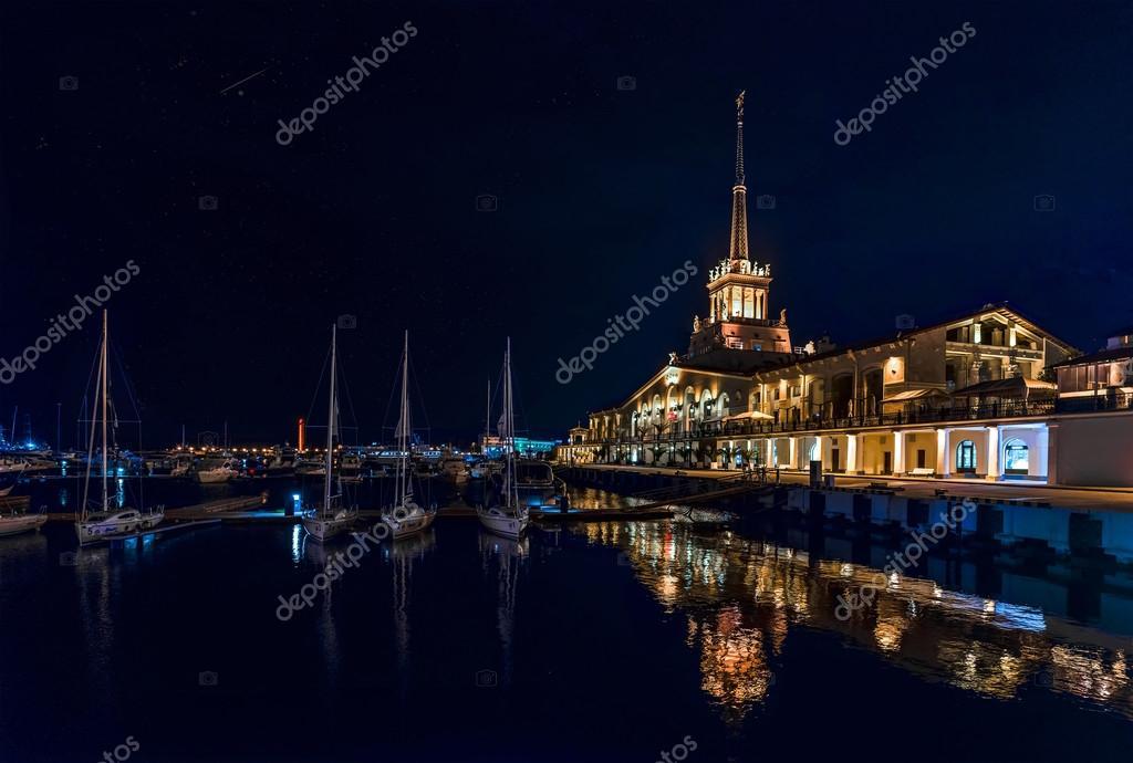 Sochi Mor station , promenade, sea
