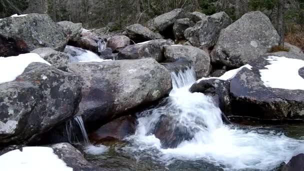 Vodopády studený potok ve Vysokých Tatrách