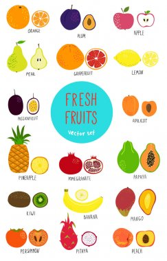 Fruits set - illustration.