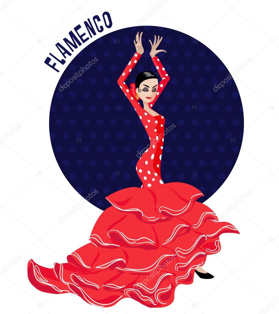 Danseuse de flamenco illustration image vectorielle - Dessin danseuse de flamenco ...
