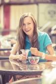 Fotografie Café-Frau