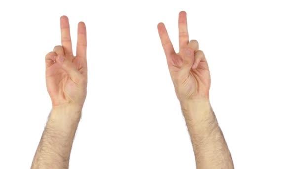 mír na bílém 4k ruce
