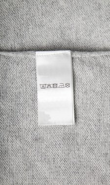 Washing label on cloth