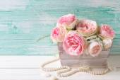Fotografia Dolce rosa rose nella casella