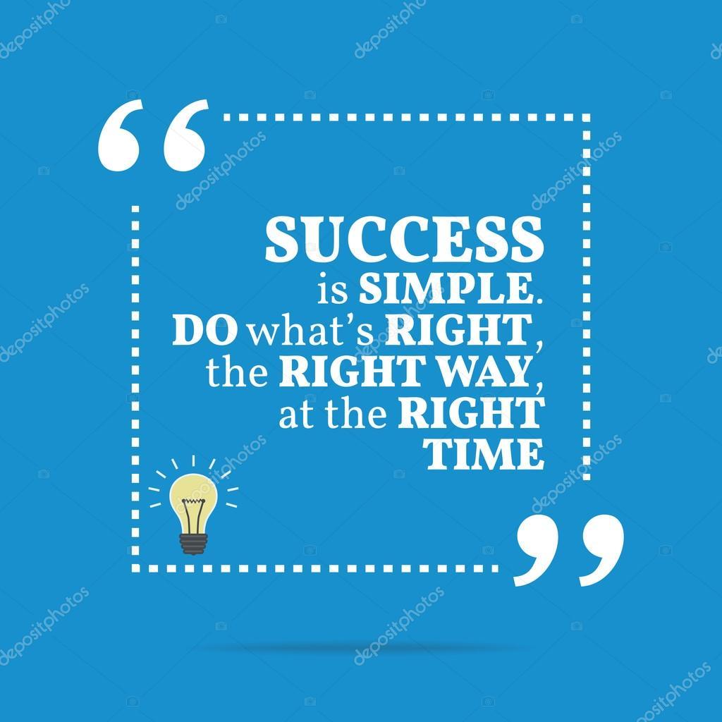 Inspiradora Citação Motivacional O Sucesso é Simples Fazer