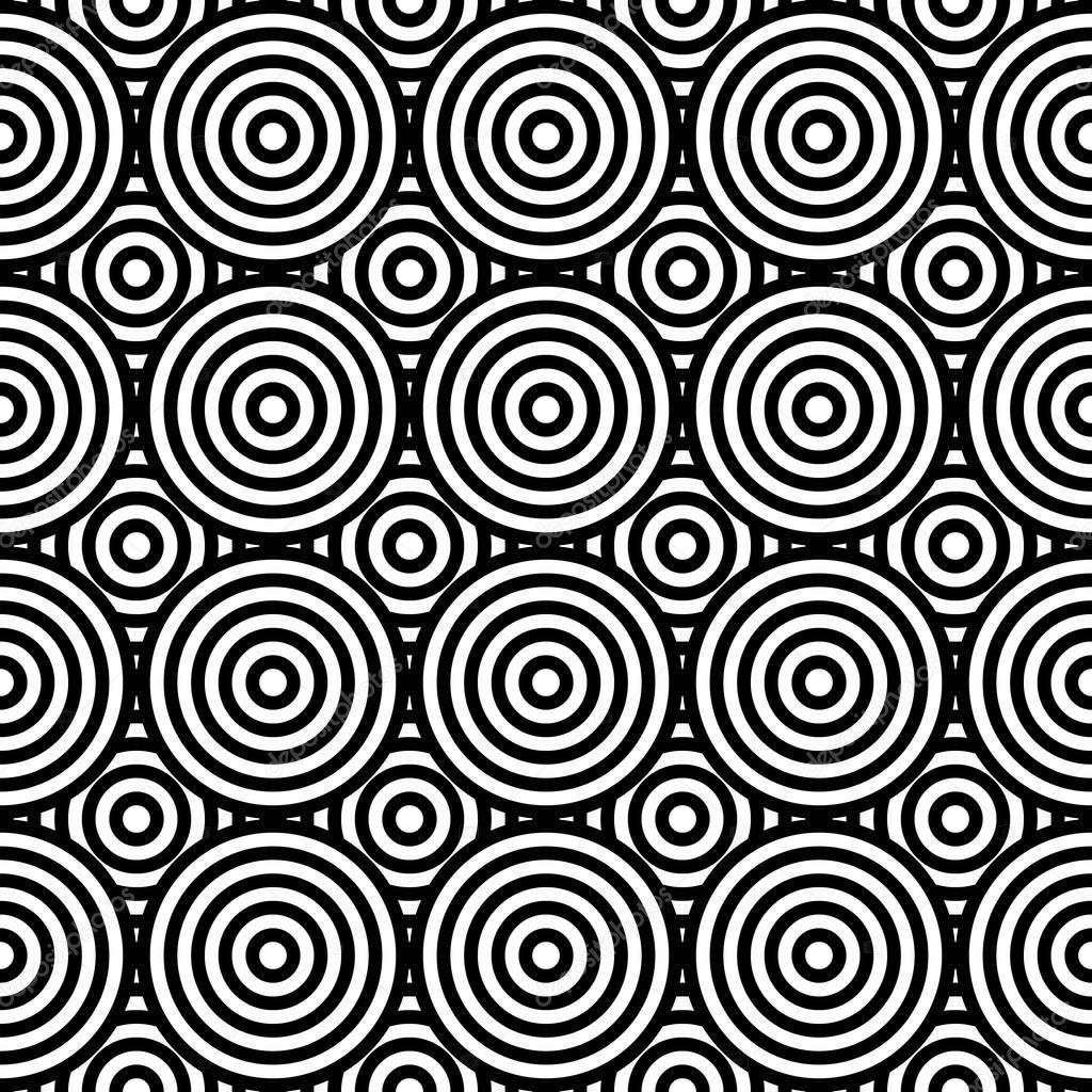 Nahtlose Muster Abstrakt Geometrische Verschiedene Kreise