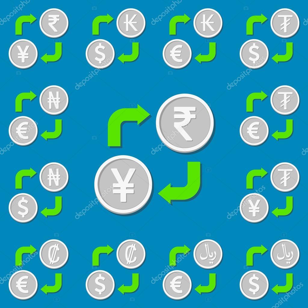 Bureau De Change Jeu De 4 Euro Dollar Kip Tugrik Roupie Yen