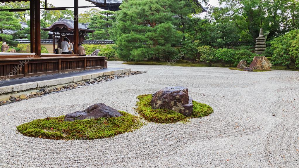Zen Garten In Kennin Ji Tempel In Kyoto Stockfoto C Cowardlion