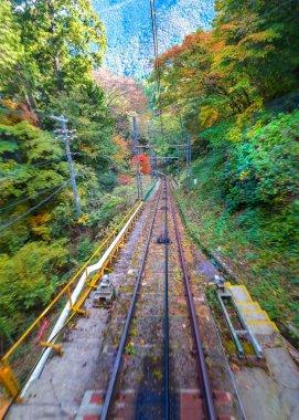 Track of Cablecar to Koyasan in Wakayama