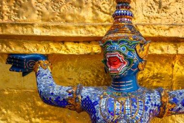 Demon Guardian at Wat Phra Kaew - temple of Emerald Buddha in Bangkok, Thailand