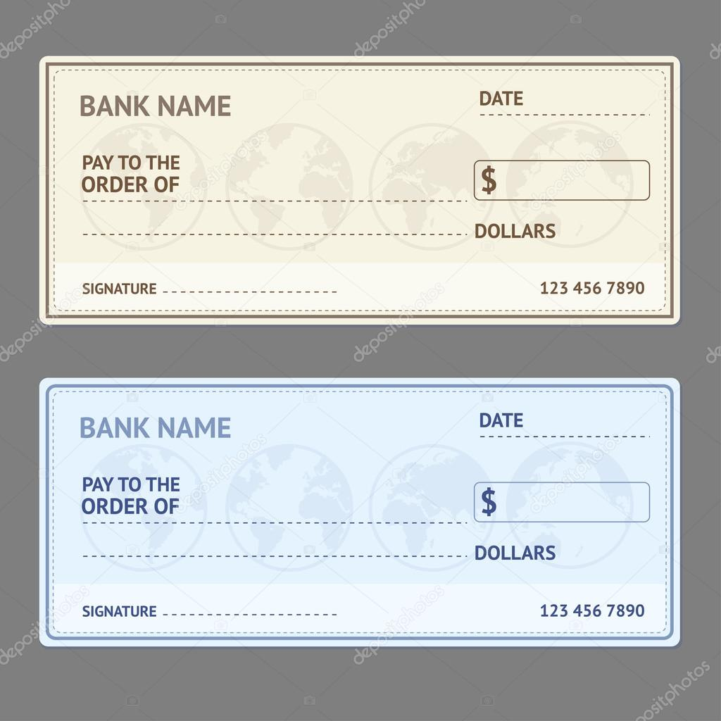 bank check template set vector stock vector mouse md 113110470