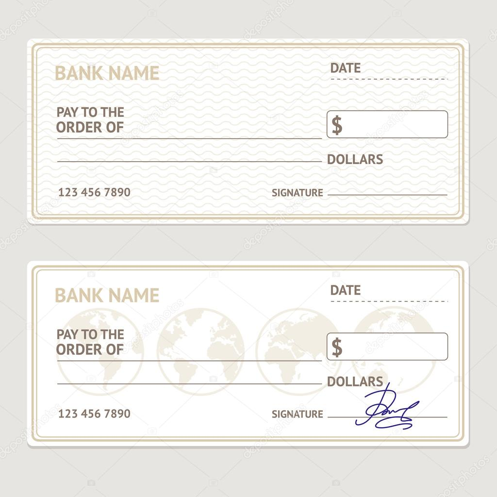 bank check template set vector stock vector mouse md 113121686