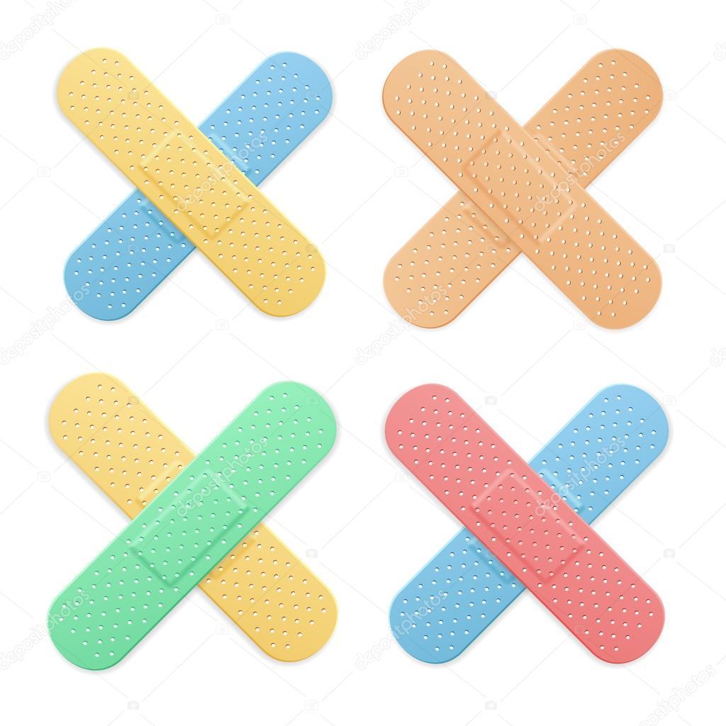 bande de plâtre de bande de l'aide médicale patch color cross jeu