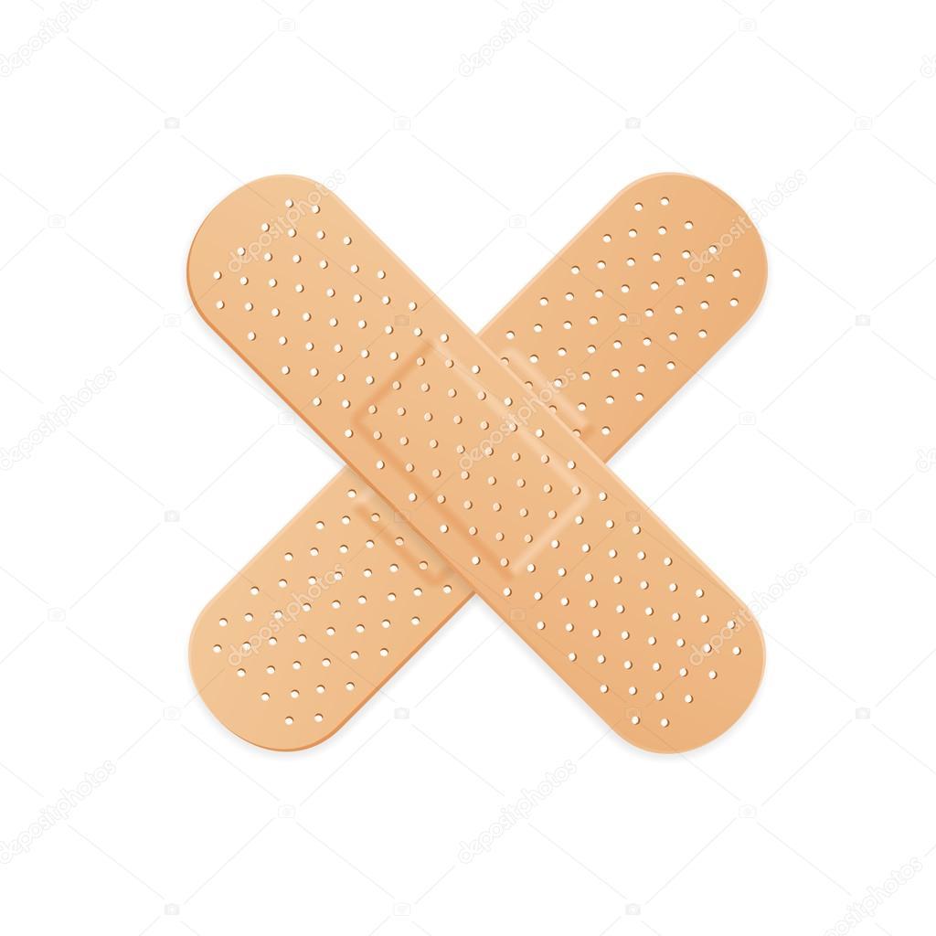 aide bande plâtre bande médicale patch. vector — image vectorielle