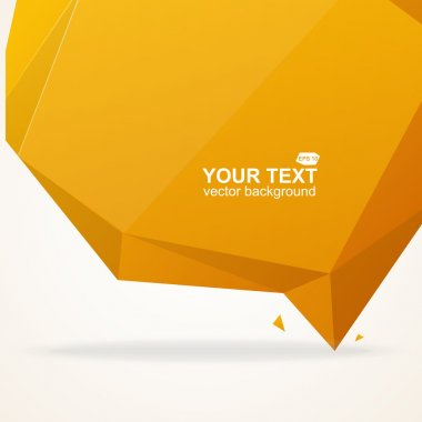 Abstract origami polygonal shape vector