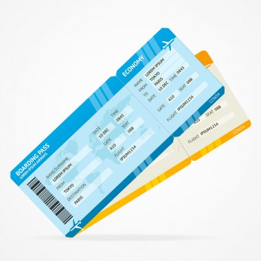 Vector Modern Airline boarding pass tickets