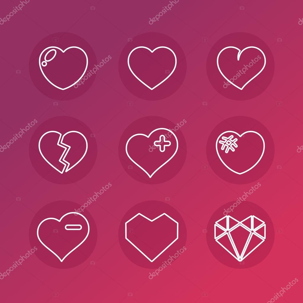 Conjunto de vectores de señales de amor — Vector de stock © mouse md ... 71cf3e0fb2456