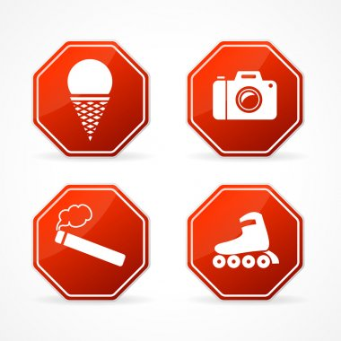 Vector Sign forbidden on white background