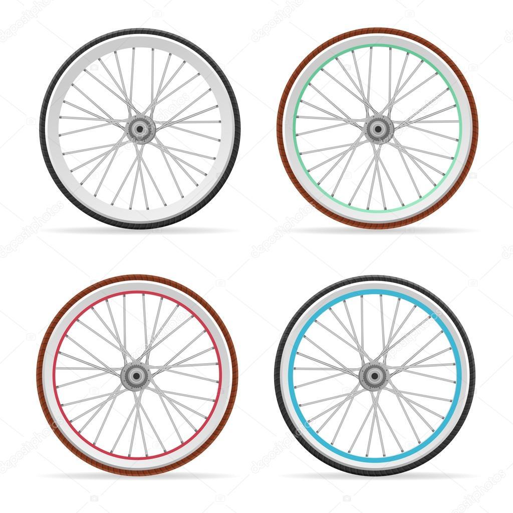 Vektor Fahrrad Felgen Set Stockvektor Mousemd 78976486