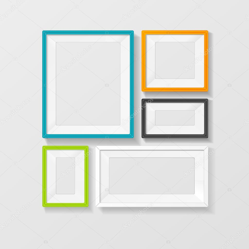 Vectores color cuadro marco vector set — Archivo Imágenes ...