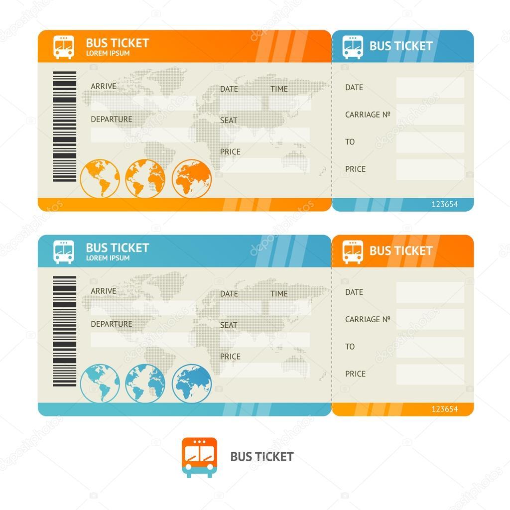 Bus ticket. Vector