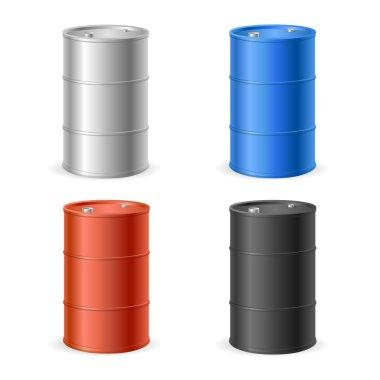 Oil Barrel Drum Collection. Vector