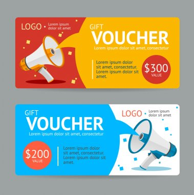 Gift Voucher.Flat Design. Vector