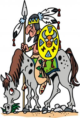indian man and horse