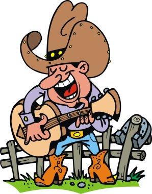 cowboy playing music