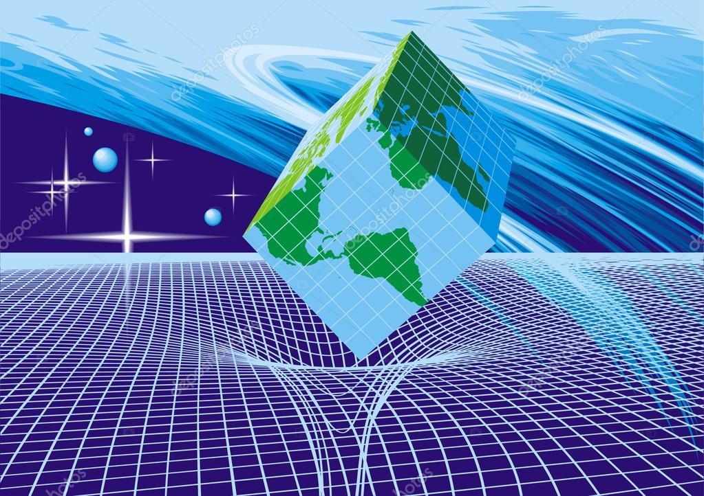 World map as cube stock vector pepeemilio2 69876895 world map as cube stock vector gumiabroncs Image collections