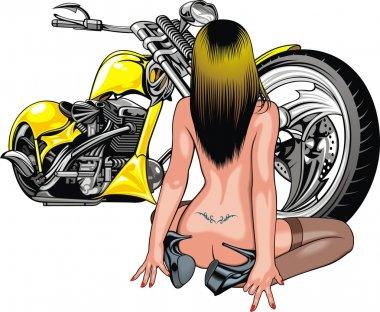 girl and motorbike