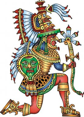 mayan warrior isolated