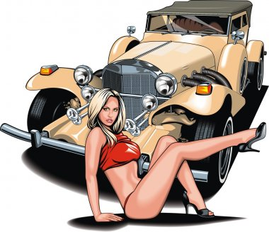 my original design car with girl from my dream