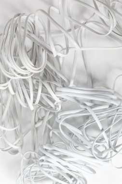 White tangled wires