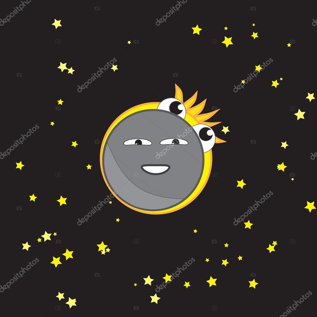 Eclipse solar cuarta fase - eclipse total — Vector de stock © tranac ...