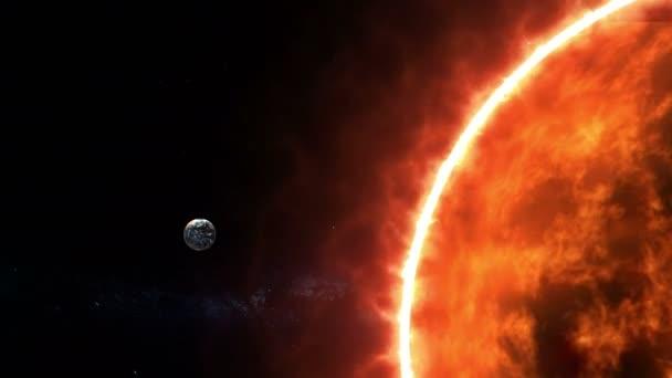 Slunce a země ve vesmíru