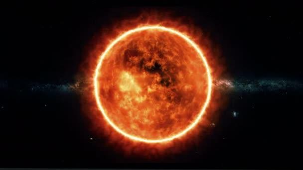 Sonnenoberfläche mit Sonneneruptionen. Wissenschaftlicher Hintergrund.