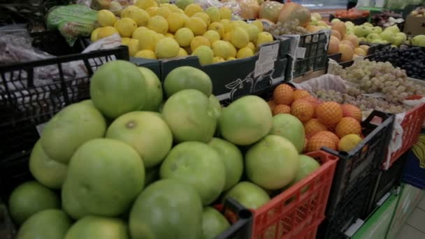 fruit store lemons bananas apples oranges pomelo