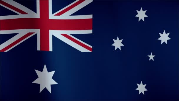 Flag of Australia waving in the wind - seamless loop with highly detailed fabric texture