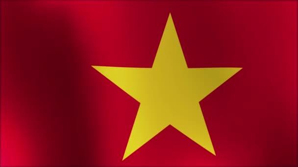 animovaná vlajka Vietnamu - bezešvá smyčka