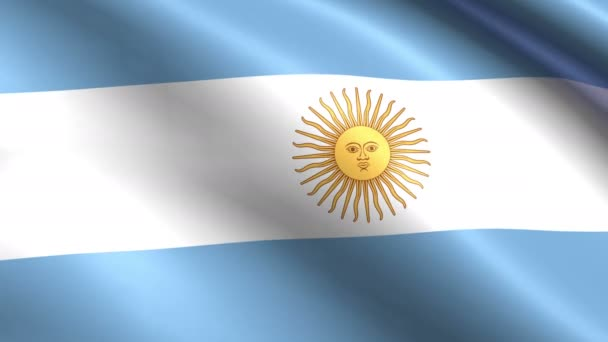 Creased argentina cotton flag 4k resolution